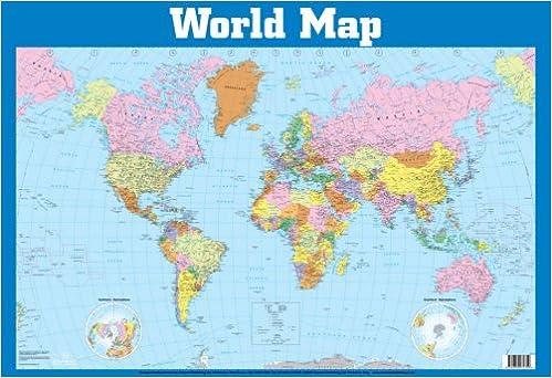 World Map Wall Chart Wall Charts Amazoncouk 9781859972359 Books