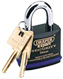 Draper 64195 Expert 70Mm Heavy Duty Electric Plated Stainless Steel Padlock & 2 Keys With Super Tough Molybdenum Steel Shackle & Replaceable Six Pin Cylinder