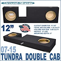 07-15 Toyota Tundra Double Cab Truck 12 Sub Box Subwoofer Enclosure