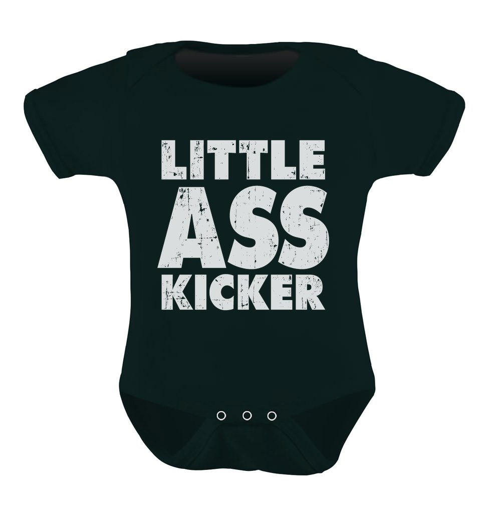 Little Ass Kicker Comical Infant Gift Idea Unisex Baby Bodysuit
