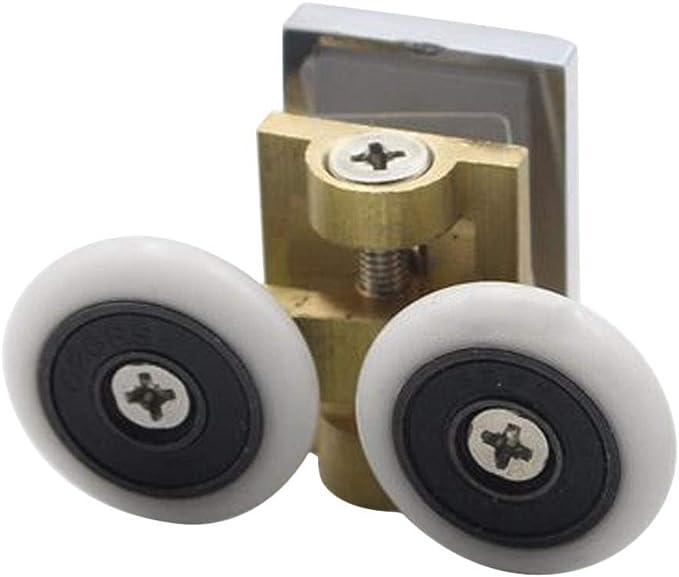 arthomer Doble Puertas de Ducha Rodillos Corredores Ruedas poleas 23 mm diámetro de la Rueda Top Bottom baño Piezas de Recambio: Amazon.es: Hogar