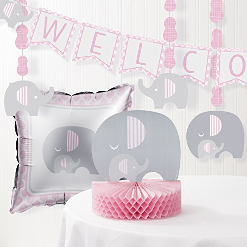 Little Peanut Girl Elephant Baby Shower Decorations Kit ()