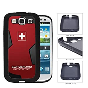 Switzerland World Cup 2014 Soccer Ball Rubber Silicone TPU Cell Phone Case Cover Samsung Galaxy S3 I9300