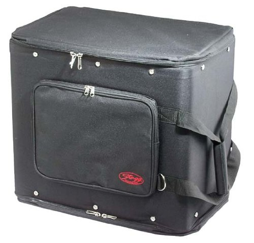 Stagg RB-6U Six Piece Rack Carrying Bag with Adjustable Carrying Strap - Black by Stagg