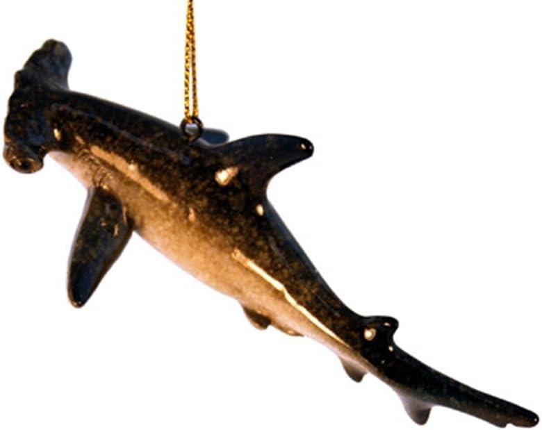 "StealStreet YXF-178 5"" Hammerhead Shark Aquatic Life Ceramic Decorative Ornament, Grey"