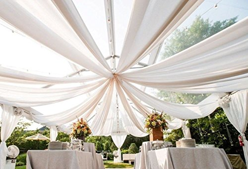 Diy 20's Flapper Costume (10X20 ft .Ceiling Draping Sheer Voile Chiffon Ceiling Drape Panel Wedding)