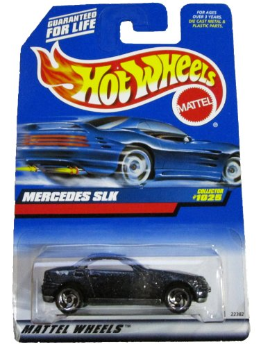 Hot Wheels 1999 1:64 Scale Blue Flake Mercedes SLK Die Cast Car Collector #1025 (Collector Diecast Scale)