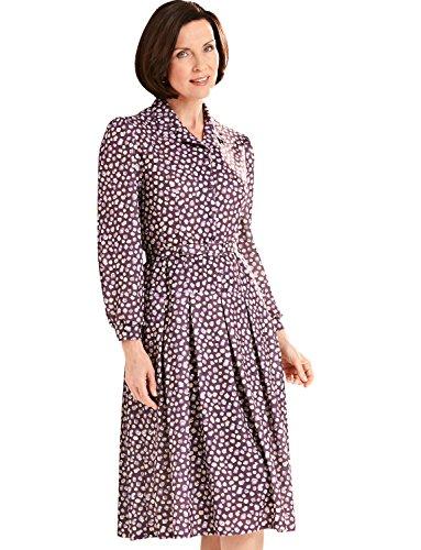 Tropfen Damen 40 Violett Emily Inches Taillen Kleid Rose aEF5nqwz