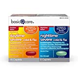 Basic Care Daytime/Nighttime Severe Cold & Flu, 24 Count