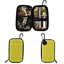 Vape & Mod Portable Travel Case Compatible with Kanger EVOD 2 |Semi-hard Protective Shell with Standing Capability & Carabiner Hook for Easy Attachment|Glossy Lime Green & Green Camo