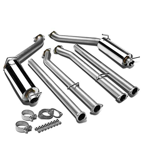 (DNA Motoring CBE-DC14V6 CBEDC14V6 Stainless Steel Catback Exhaust System)