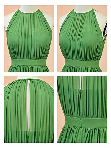 Invité En Soirée Huini Pour Mariage Turquoise Cérémonie Chic Longue Manche Mousseline Sans Femme Robe Habillée roeCBdWx