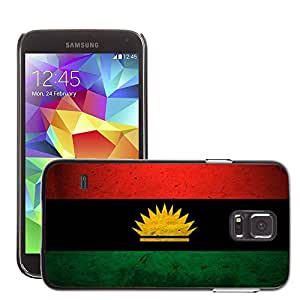 Hot Style Cell Phone PC Hard Case Cover // M00044619 artistic grunge flag of biafra // Samsung Galaxy S5 i9600