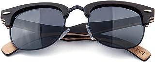 Gafas de sol para hombres Decoración con remaches Semirrimless Gafas de sol de madera polarizadas para hombres Gafas de sol hechas a mano Protección UV Gafas de sol de conducción Gafas de sol de playa junjiagao