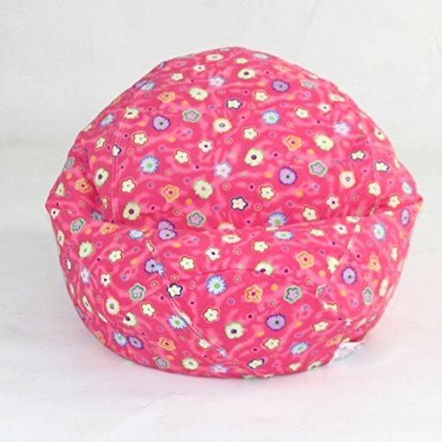 American Furniture Alliance Print Collection Jr Child Bean Bag, Pink Flower