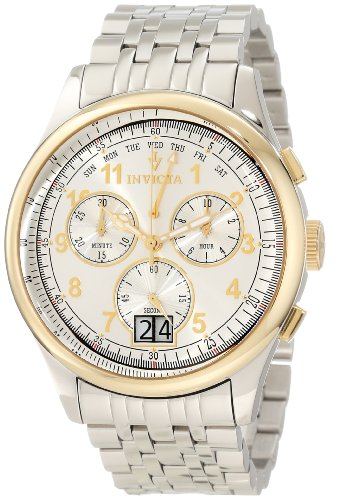 Invicta Men's 10749 Vintage Chronograph Silver Dial Watch, Watch Central