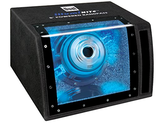 Dual Electronics SBP8A 8 inch illumiNITE High Performance Powered Enclosed Subwoofer with Built-In Amplifier & 160 Watts of Peak Power by Dual Electronics