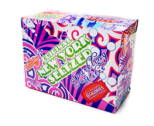 Original New York Seltzer Sparkling Water, 6 Berry, 12-Count 12-Ounce Cans (Pack of 2)