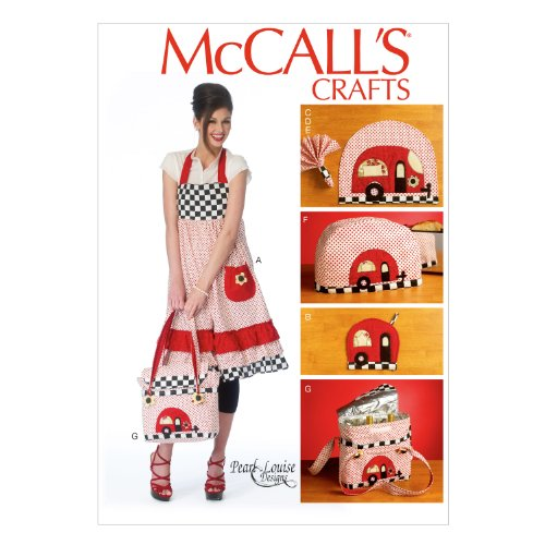 McCall Pattern Company M6935 Apron Potholders Napkins Napkin Rings Placemats Toaster Cover and Insulated Soft Cooler, One Size