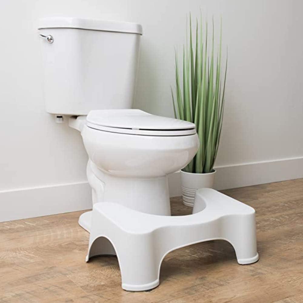 Bathroom Toilet Stool, neu - Proper Toilet Posture für Better Elimination | Compact | Discreet |Clear