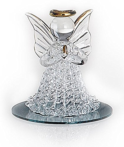 Spun Glass Angel on Mirrored Base Favors