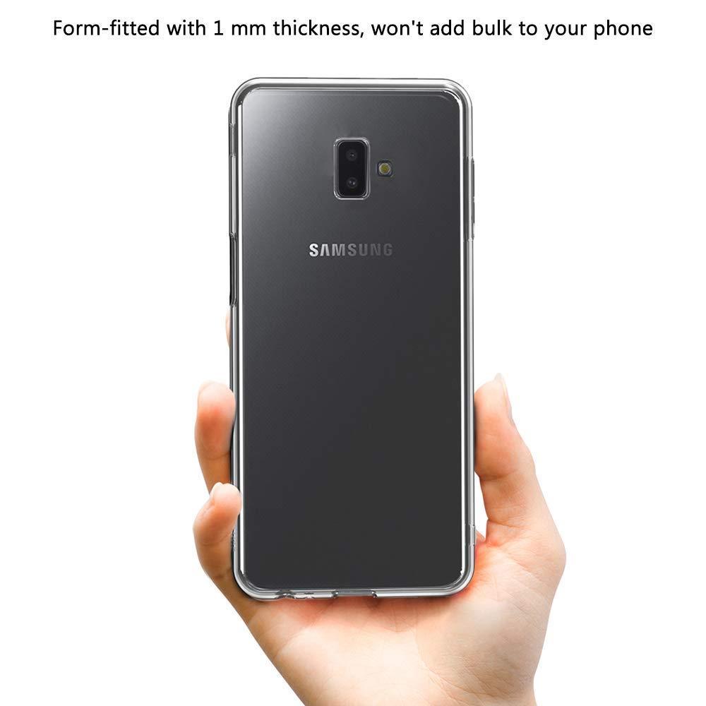 UCMDA Coque Galaxy J6 Plus 2018 + Verre tremp é  écran Protecteur, Coque 5add3f30868d
