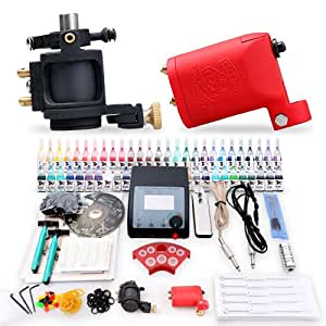 Professional complete tattoo kit 2 top rotary for Amazon tattoo machine
