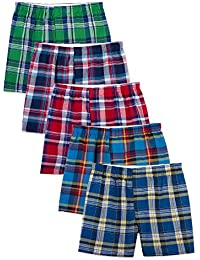 Mens Woven Tartan and Plaid Boxer Multipack