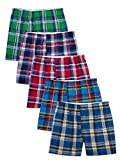 Fruit of the Loom Men's  Tartan Boxer, Assorted, Small(Pack of 5)