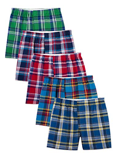 Fruit of the Loom Men's  Tartan Boxer, Assorted, Large(Pack of 5) ()