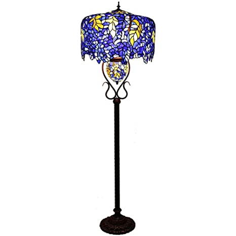 Lámpara de pie de estilo Tiffany Lámpara de lectura de ...