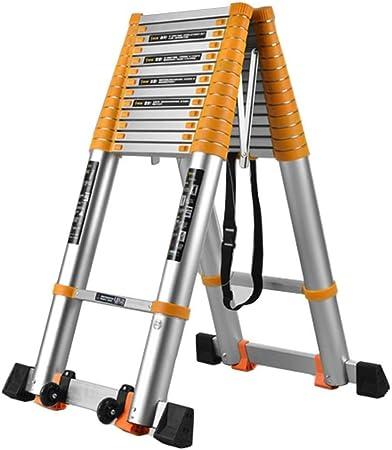 Escalera telescópica Escalera Loft telescópica de aluminio con barra estabilizadora, A-Frame Multi Propósito plegable extensible extensión Escalera, for el hogar del techo del ático trabajo de bricola: Amazon.es: Hogar