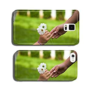 Child's hand giving flowers to her friend cell phone cover case iPhone6