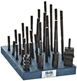 Te-Co 20604 38 Piece T-Nut and Stud Kit, 3/8''-16 Stud x 9/16'' Table T-Slot