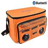 Bluetooth Speaker Cooler Bag,VOLADOR Insulated Cooler Bag with Wireless Bluetooth Speaker,Waterproof Picnic Cooler Bag Sandy Beach Tote Box