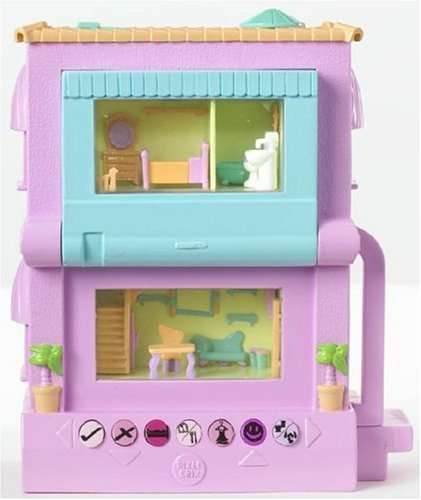 Pixel Chix 2 Story House - Pink with Blue Window