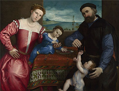 Scarlet Letter Costume Ideas (Oil painting 'Lorenzo Lotto Portrait of Giovanni della Volta with his Wife and Children ' printing on polyster Canvas , 8 x 10 inch / 20 x 26 cm ,the best Kitchen gallery art and Home artwork and Gifts is this Amazing Art Decorative Prints on Canvas)