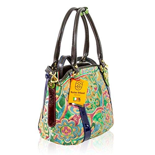 Marino Orlandi Italian Designer JAPA Floral Green Haircalf Purse Crossbody Bag - We Love Bags
