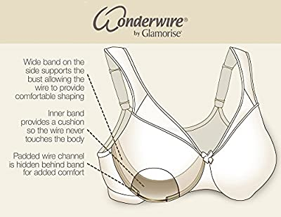 Glamorise Women's #9245 Stretch-Lace Wonderwire Bra