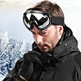 WOLFBIKE Ski Goggles Anti-Fog Double Lens Big Spherical Skate Snowmobile Snowboard Goggles