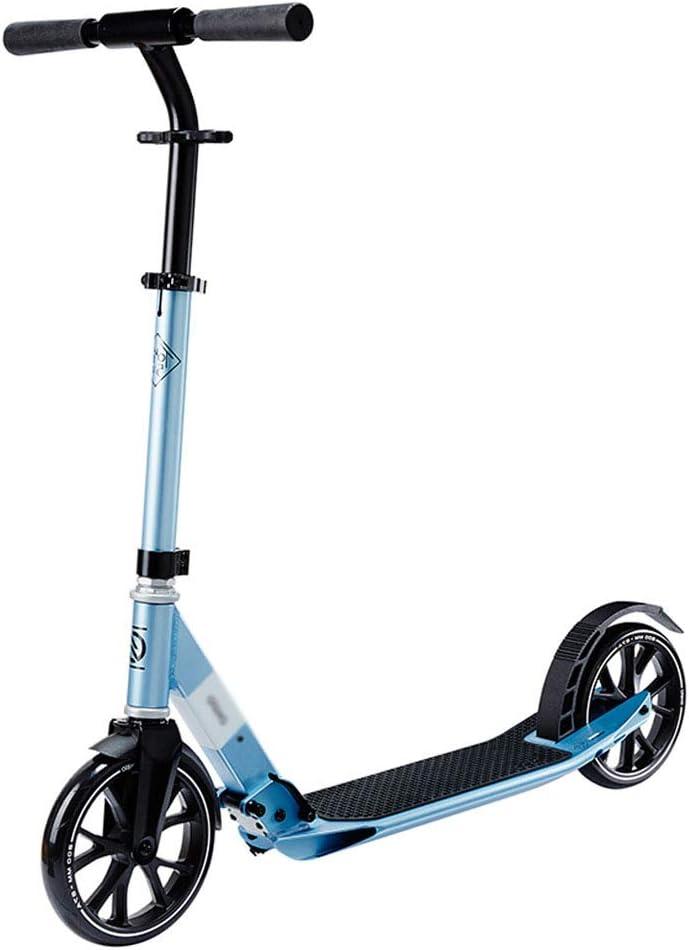 スクーターの安全折り畳み式の調節可能な超軽量 |ティーンキックスクーター通勤スクーター、シティスクーター、8歳以上のお子様への最高の贈り物|ビスタプリントサポート220ポンド、ブルー