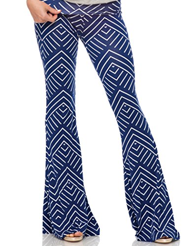 piazza-printed-roll-over-beach-pant-navy-white-small