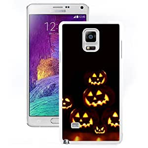 New Custom Designed Cover Case For Samsung Galaxy Note 4 N910A N910T N910P N910V N910R4 With Jack O Lanterns Holiday Mobile Wallpaper (2) Phone Case