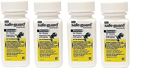 Safeguard Goat Wormer 125 mL 4 Pack by Safeguard