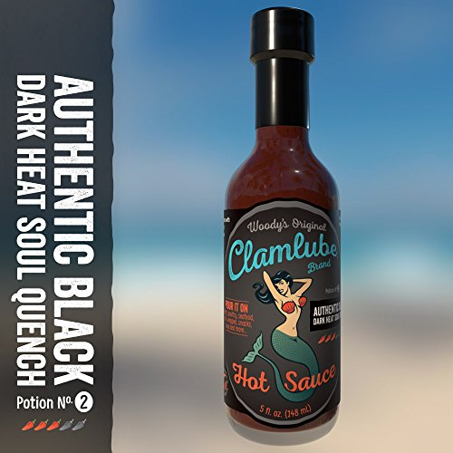 Price comparison product image Woody's Clamlube Potion No. 2 Authentic Black Dark Heat Soul Quench Hot Sauce (3 Pack)