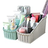 MyLifeUNIT Countertop Makeup Organizer, Plastic Cosmetic Holder for Bathroom Vanity Dresser (Set of 2)