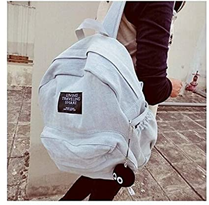 Amazon.com: yiming Kilimall Women Teenagers Girls Denim Backpacks School Bags Shoulder Bag Travel Daily Bagpack Bolsas Mochilas Femininas(Multi-Color,one ...