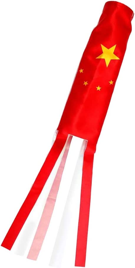 70cm China F Fityle Windsocks Flag Patriotic Patriotism Trailer Camping Windsock-Outdoor Hanging Decoration