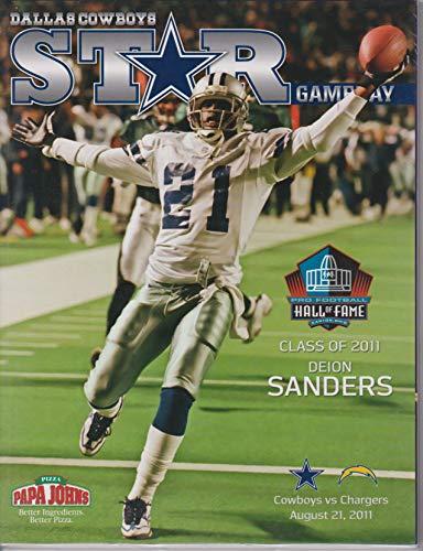 - Dallas Cowboys vs San Diego Chargers STAR Gameday Program August 21, 2011 Deion Sanders HOF