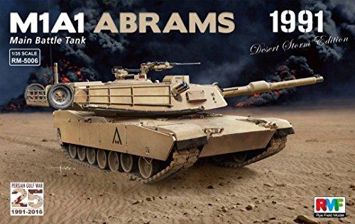 Rye Field Model 1:35 Main Battle Tank M1A1 Abrams 1991 Plastic Model Kit - M1a1 Tank